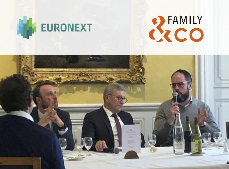 conférence fluidité capital de l'entreprise familiale Euronext et Family & Co
